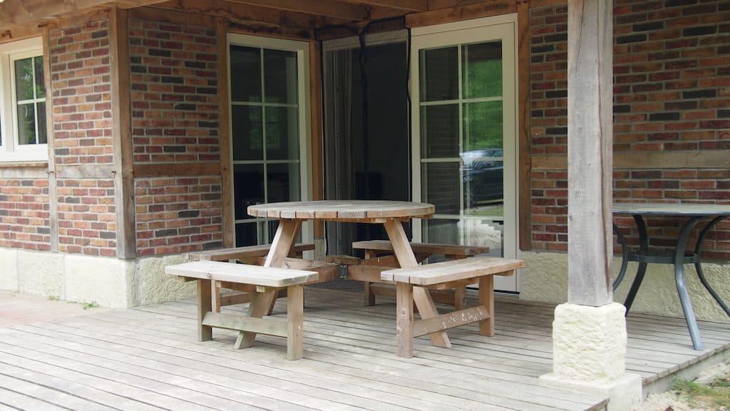 picknicktafel veranda
