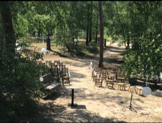 De lutte hutte als trouwlokatie in het lutterzand