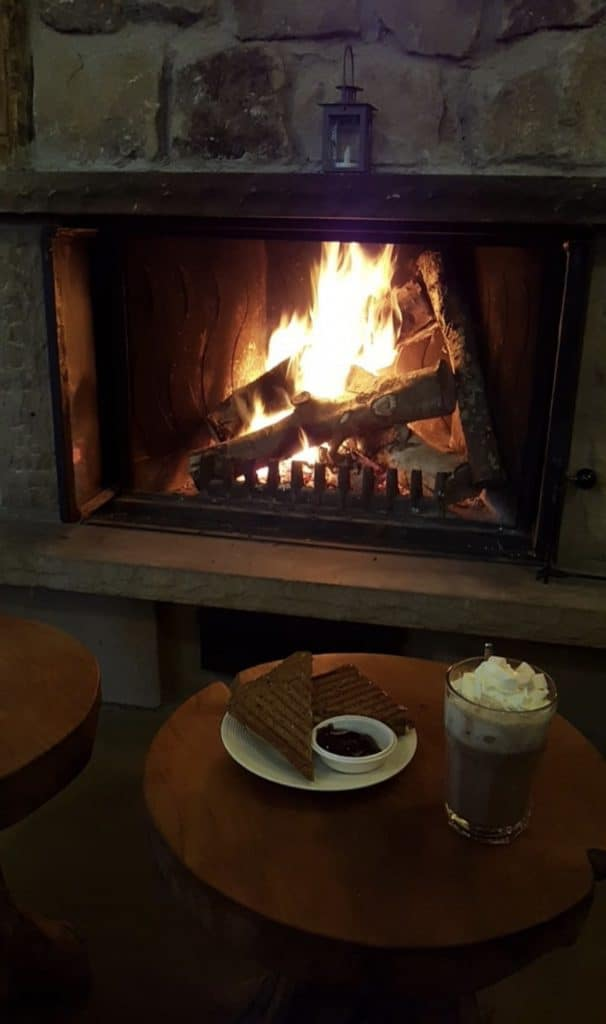binnenhaard heerlijke warme chocolademelk
